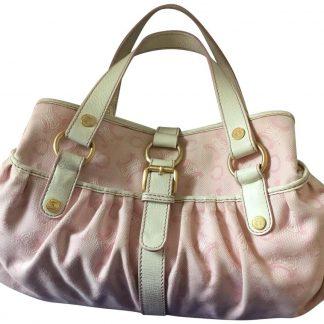 878f8dfd735e Best Céline Fake Logo Jacquard Pink and White Canvas Satchel high quality designer  replica handbags ...
