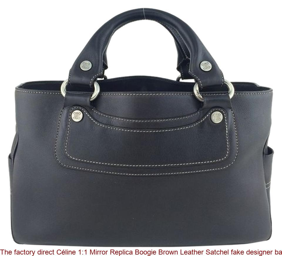 f59a233005a The factory direct Céline 1:1 Mirror Replica Boogie Brown Leather Satchel  fake designer bags china